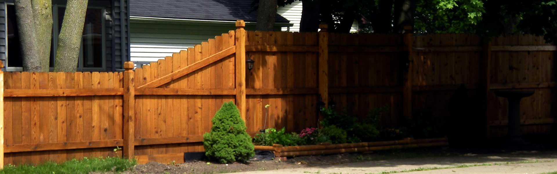 Red Cedar Fence Slide